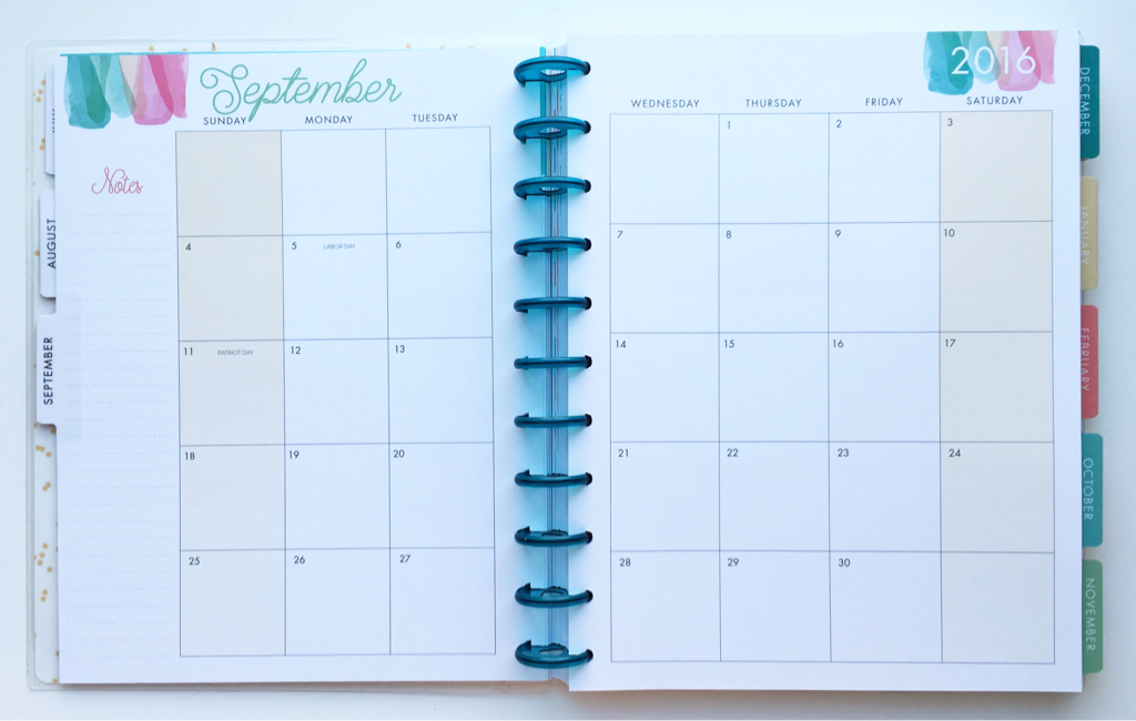 month pages happy planner stay golden