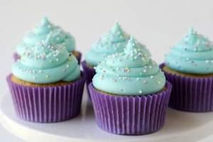 cupcake Bleu et violet